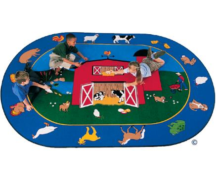 Educational Classroom Carpets For Daycare, Preschool And Church With  Animal, Animals And Nature Theme