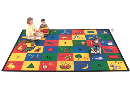 This Rug Incorporates Basic Shapes, Numbers, And The Alphabet With Related  Phonic Images, Making Learning A Truly Fun Experience!