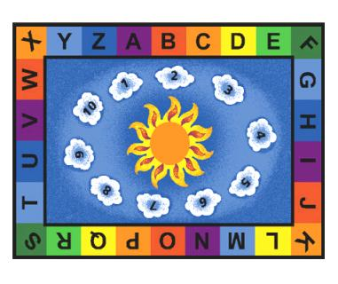 Classroom Lots Of Dots Carpets, Crayons, Bee Attitudes For Daycare,  Preschool And Religious, Patterned, Pattern Rugs