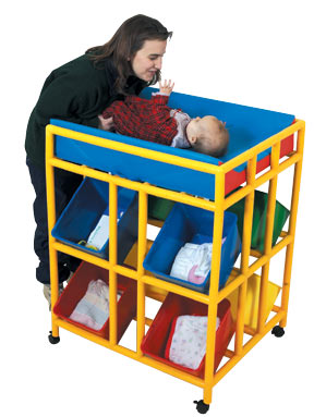 Our X WIDE MOBILE CHANGER Is Perfect For Early Childhood Environments!  Small Babies Are Easy To Pick Up And Take To The Changer; But As They Get  Bigger, ...
