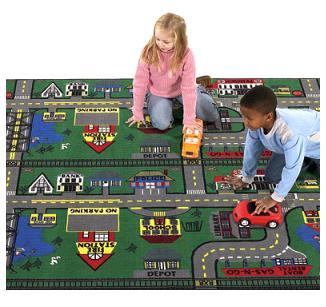 Block Play Rugs Places To Go Carpet Neighborhood