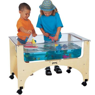The SEE THRU SAND N WATER TABLE   TODDLER HEIGHT Is A Must Have For Your  Preschool Or Daycare! Provides Ultimate Splash Control With Clear, Tuff, ...