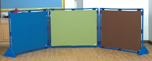 Preschool room dividers play panel velcro panels flannel boards