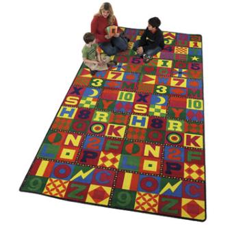 Abc Alphabet Squares Classroom Carpets Daycare